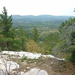 Amazing views of the vast wilderness while trekking Killarney's La Cloche Silhouette loop trail.