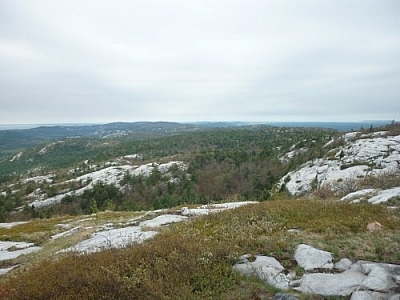 View from Silver Peak on the La Cloche Silhouette Trail in Killarney Provincial Park