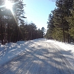 We've taken holiday tradition family walks down snowy Lafrenière Road (pictured) in Noëlville a few times...