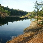 A lengthwise view of the long Lake of the Woods