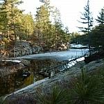 A creek seen along Heron Trail.