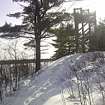 The lookout tower overlooking the Loudon Peatland.