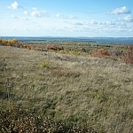 Scenic fall views from McLean Mountain in Little Current, Manitoulin Island