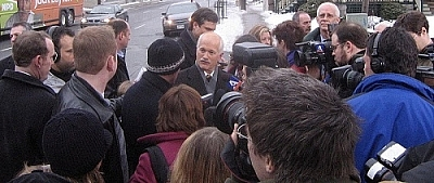 Was this media scrum with Jack Layton during the 2006 electoral campaign enabling democracy?