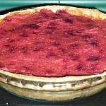 Mixed Veggie Pie with Mashed Potato and Beet Top Crust