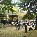 The central gazebo at Occupy Toronto.