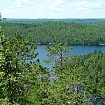 Picturesque scene from hiking in Ontario on the Ottawa-Temiskaming Highland Trail near Temagami
