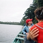 Visiting an oxbow lake on the Tambopata Reserve by canoe