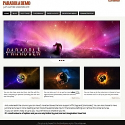Screenshot of the Parabola WordPress theme.