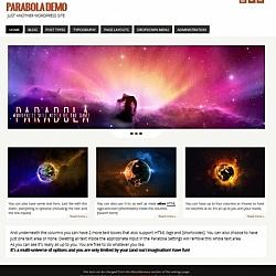 Screenshot of the Parabola WordPress theme.