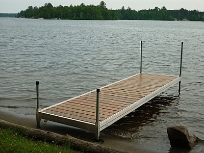 Make sure to check out the dock at Pebble Beach !while visiting Mashkinonje Provincial Park!