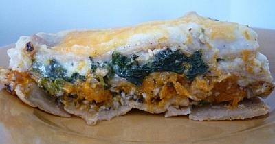 Piece of Butternut Squash and Hazelnut Lasagna