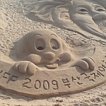 Sand sculptures in Busan, South Korea.
