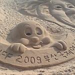 Sand sculptures in Busan, South Korea.