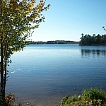 View of Lac Clair from the Pioneer Trail.