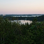 View of the Minnow Lake area at dusk in Sudbury.