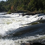 This close-up shows just how much Récollet Falls in French River Provincial Park is an easy and beautiful destination for hiking in Ontario.
