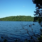 Another angle of the view from our campsite on Helenbar Lake while backcountry tripping in Mississagi Provincial Park.