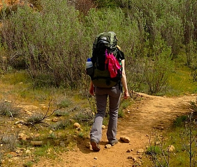 We're on our way to sharing our packing tips for backcountry hikers...