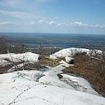 Smooth white quartzite atop Silver Peak.