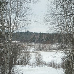 Snowshoe hiking in the French River area often brings us to Pine Creek, which has an unmarked access.
