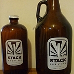 Stack Brewing growler and grumbler