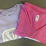 Stack Brewing lilac and pink women's t-shirts