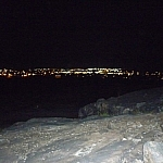 Sudbury city lights at nighttime seen from a favourite blueberry picking hill.