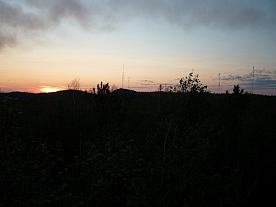 Sunset from Blueberry Hill while walking Sudbury's Rainbow Routes