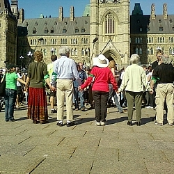 The next wave of Keystone XL pipeline protesters preparing to be arrested at Parliament Hill.