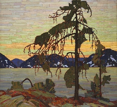A reproduction of Tom Thomson's painting, The Jack Pine.