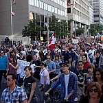 These protesters in Toronto are sending their own type of what's bugging me right now message to politicians!