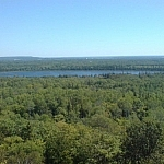 Scenic views from the Cup and Saucer Trail near Little Current on Manitoulin Island