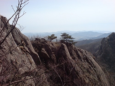 A Wolchulsan hike features spectacular scenery.