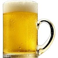 Mug of foaming craft beer