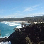 Panoramic view of Alexandria Beach in Queensland, Australia.