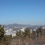A view of the city of Busan from Amisan in the suburb of Dadaepo.