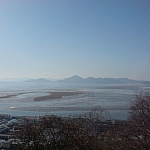 Scenic view of Eulsuk Island and the Nakdong River Estuary.
