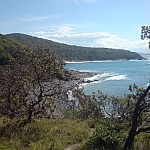 View of the coastline at Noosa National Park.