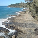 A rocky shoreline at Noosa National Park, seen while travelling Down Under in Queensland.