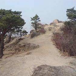 Part of the trail at Bukhansan National Park.