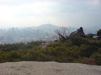 View of Namsan & N'Seoul Tower from Inwangsan.