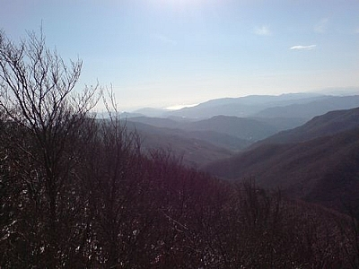 View from Janggungbong, the peak at Jogyesan Provincial Park, seen while hiking to make the most of a year in Korea.