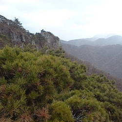 Mountain scenery from Mudeungsan Provincial Park.
