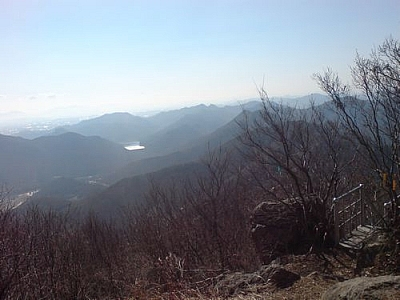 Panoramic view from Seonunsan Provincial Park.
