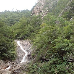 A waterfall along one of the many trails of Seoraksan National Park.