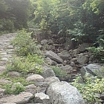 A rocky path at Sobaeksan National Park.