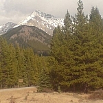 Scenery from hitchhiking between Invermere and Calgary on a Western Canada road trip.