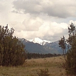 Snow-capped mountain seen while hiking in Invermere.