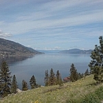 A view from Knox Mountain in Kelowna, British Columbia.